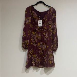 free people burgandy dress